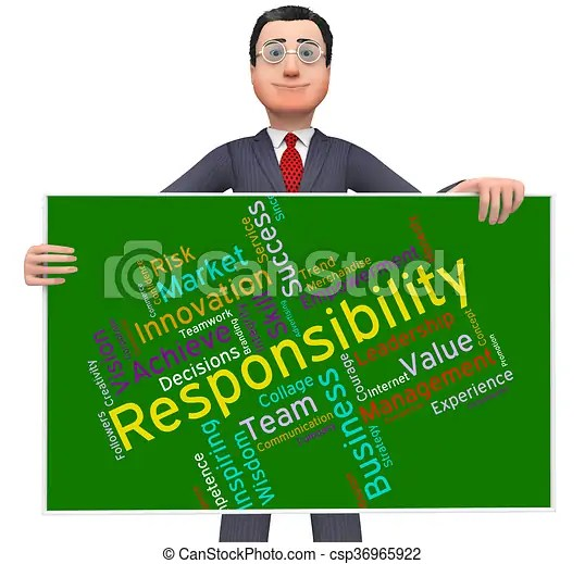 Responsibility words shows management obliged and ...
