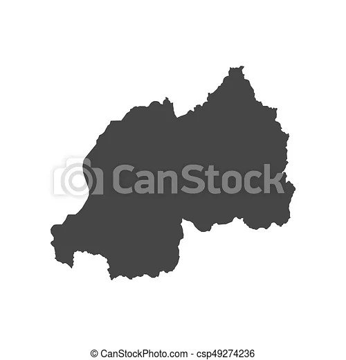 Rwanda map outline on the white background  vector illustration  Rwanda map outline   csp49274236