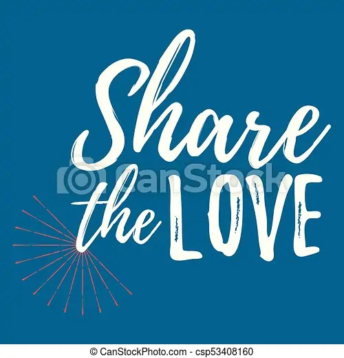 Download Share the love label. font with brush. valentines day ...