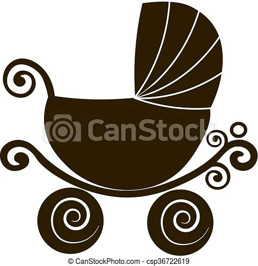 https www canstockphoto com silhouette cute stroller vintage baby 36722619 html