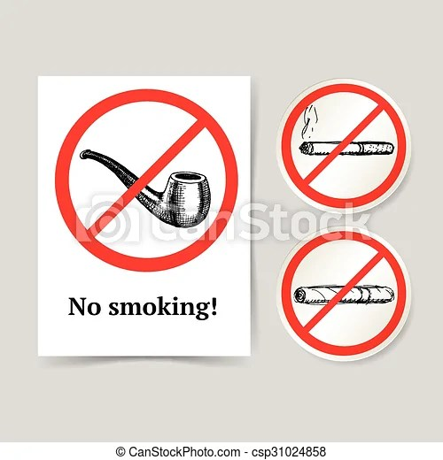 https www canstockphoto com sketch no smoking poster and lables 31024858 html