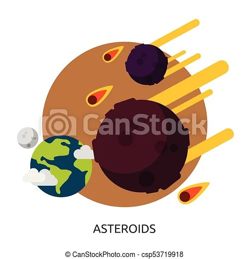 Space asteroids vector image.