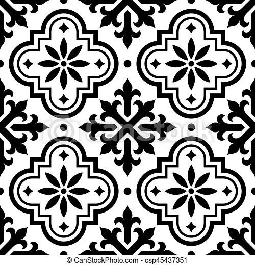 https www canstockphoto com spanish tile pattern moroccan tiles 45437351 html
