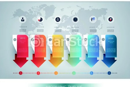 Vector infographics timeline design template with 3d paper label and     Vector Infographics Timeline Design Template With 3d Paper Label And Graph  6 Steps Options