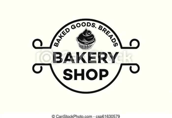 Vintage Emblem Cupcake Bread Bakery Logo Inspiration Isolated On