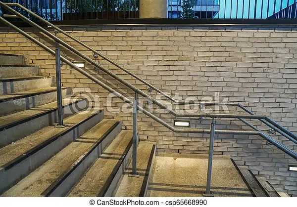 Vintage Handrail With Outdoor Concrete Stairs | Steel Handrails For Outdoor Steps | Tubular Steel | Steel Handrail Style Kerala Staircase | Stainless | Commercial | Residential