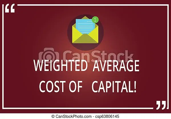 Word writing text weighted average cost of capital. business concept for wacc financial business ...