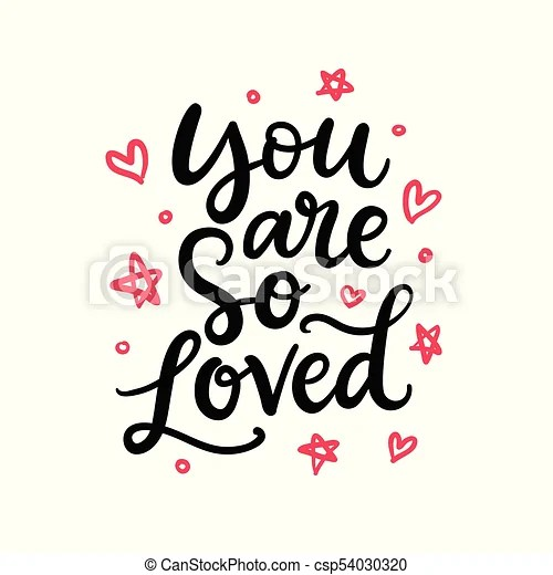Download You are so loved. hand written lettering, isolated on ...