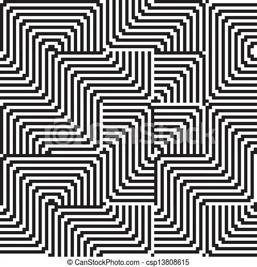 Patrón con línea blanca y negra en zigzag.