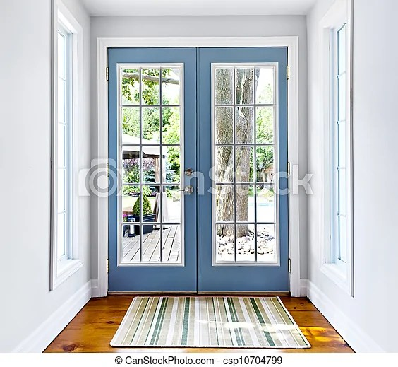 puerta de vidrio del patio frances