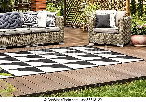 bois veranda rotin meubles
