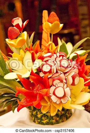 bouquet legumes frais decoupe
