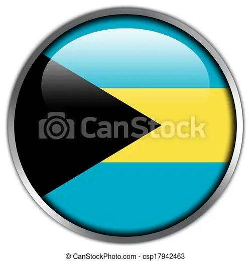 Illustration De Bahamas Drapeau Lustr Bouton