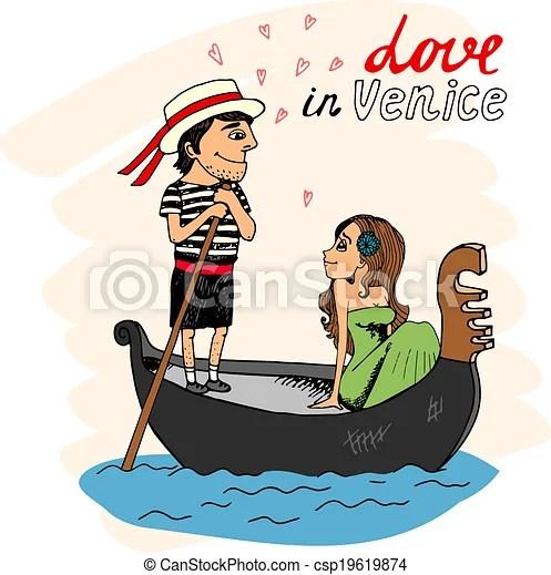 Illustrations Vectorises De Venise Amour Love Dans