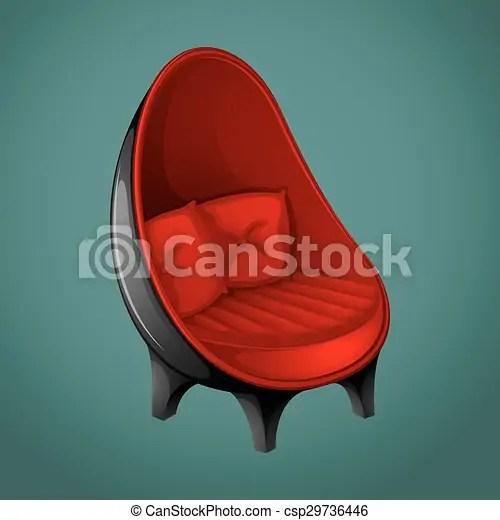 chaise moderne rouge noir csp29736446
