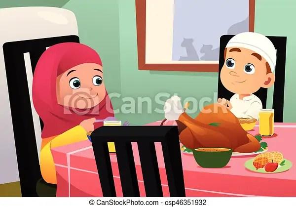 diner musulman manger enfants table
