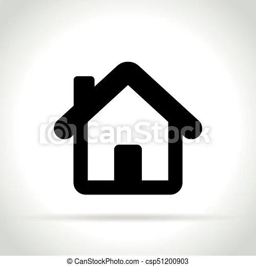 maison fond blanc icone