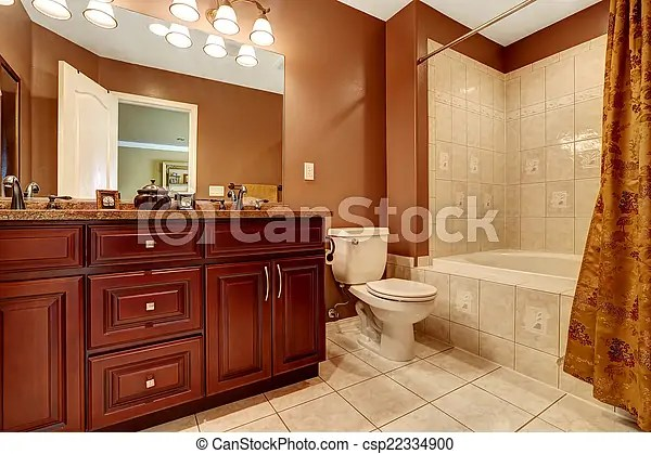 https www canstockphoto fr tailler brun salle bains couleur 22334900 html