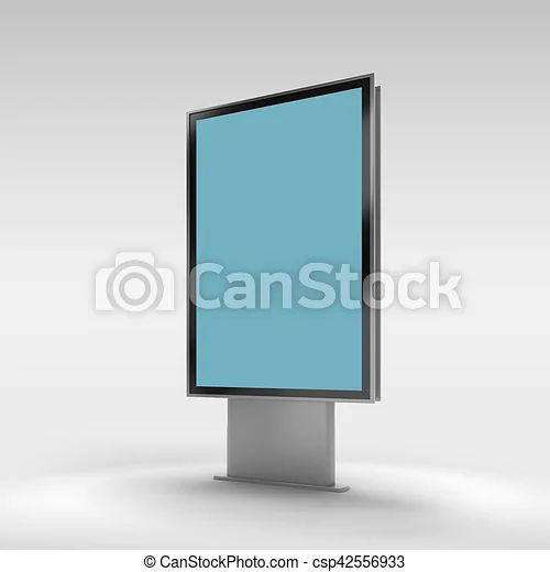 Black Vertical Turned Monitor Mockup Information Board Mockup At