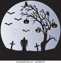 halloween moon drawing
