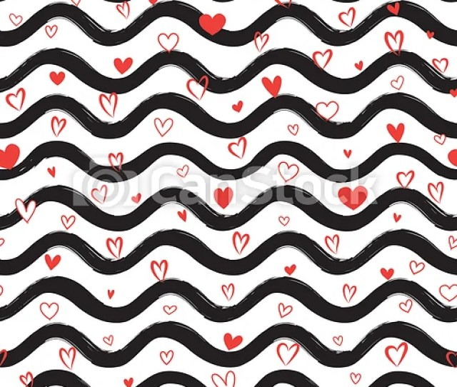 Love Heart Seamless Pattern Abstract Stylish Hand Drawn Background Holiday Ornamental Wallpaper