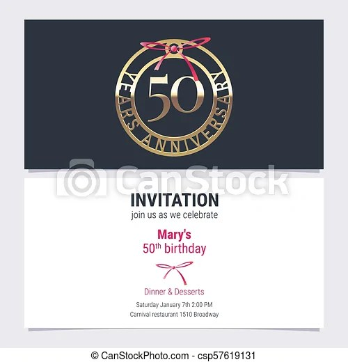 Immagini Invito Compleanno 50 Anni