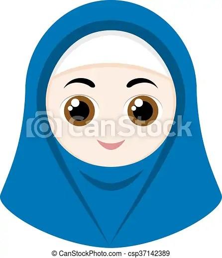 Infatti, alle donne non è permesso di pregare senza l'hijab poiché in un. Hijab Ragazza Cartone Animato Blu Illustration Isolato Cartone Animato Fondo Vettore Hijab Bianco Ragazza Canstock