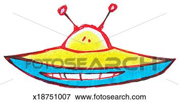 Stock Illustration of Flying Saucer x18751007 Search EPS