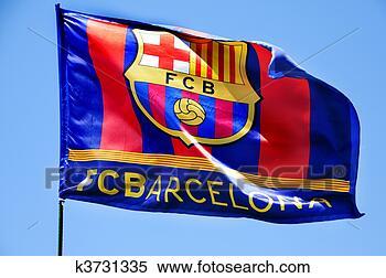Banque d'Image - fc, barcelone, drapeau, onduler, vent. fotosearch - recherchez des photos, des images et des cliparts
