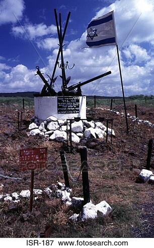 Picture - war memorial on  upper golan israel.  fotosearch - search  stock photos,  pictures, wall  murals, images,  and photo clipart