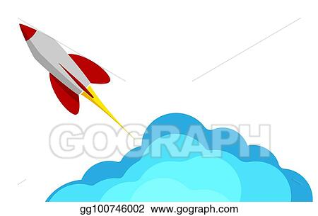 EPS Vector - A rocket flying into space. starting or ...