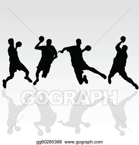 handball schwarz spieler abbildung
