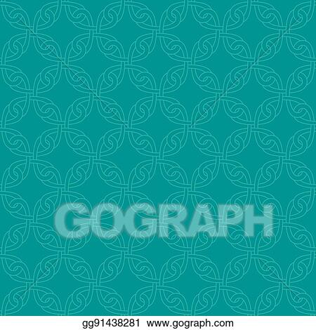 Vector Clipart Neutral Seamless Celtic Knotwork Pattern Vector Illustration Gg91438281 Gograph