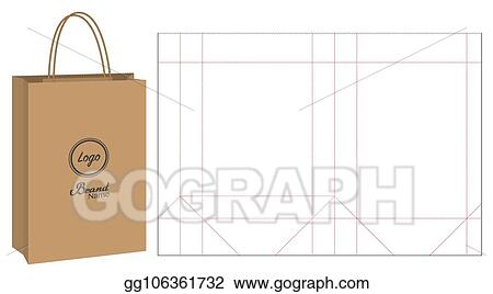 Free fabric bag mockup top view to present your branding packaging design in a photorealistic style. Eps Vector Paper Bag Packaging Die Cut And 3d Bag Mockup Stock Clipart Illustration Gg106361732 Gograph
