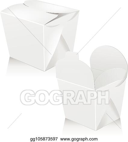 The logo is simple and graphic. Eps Vector Set Of White Blank Wok Box Mockup Vector 3d Packaging Carton Box For Asian Or Chinese Take Away Food Paper Bag Stock Clipart Illustration Gg105873597 Gograph