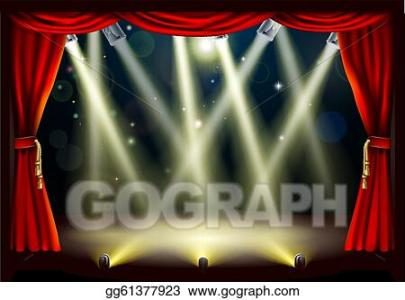 Vector Art Theater Stage Lights Clipart Drawing Gg61377923 GoGraph