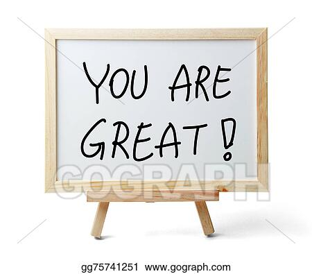 Clip Art You are great Stock Illustration gg75741251