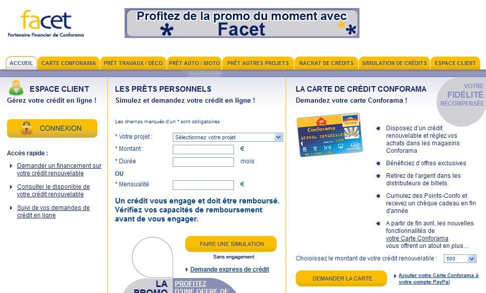 Carte Conforama Connexion.Espace Client Facet Mon Compte Coforama Telephone