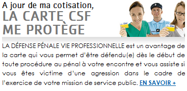 carte CSF garantie