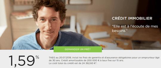 crédit immobilier Fortuneo Banque