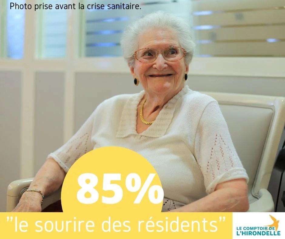 sourire de résidents