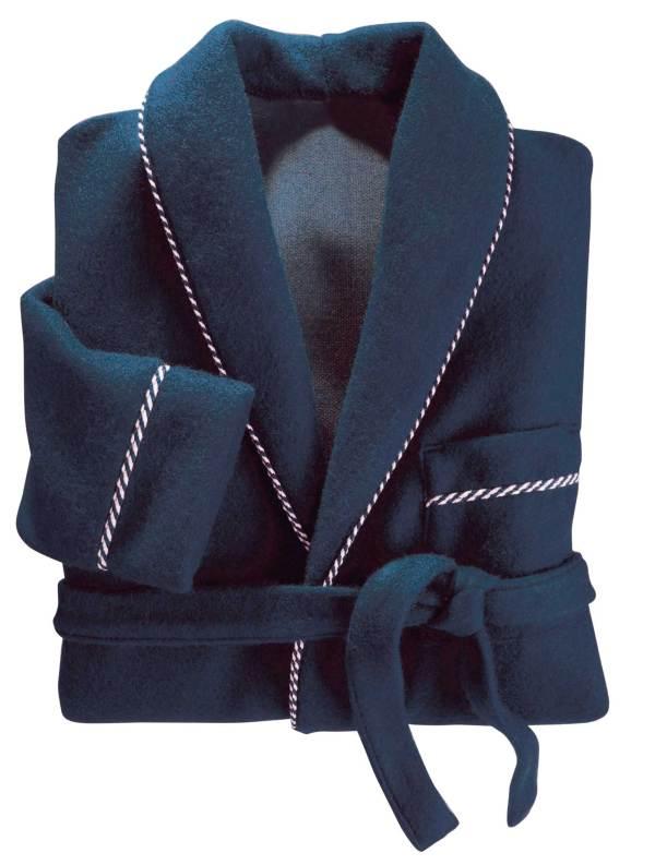 Robe de chambre bien chaude bleue