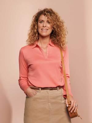 Tee-shirt en maille coloris rose