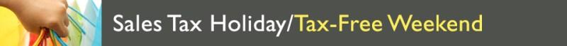 Sales Tax Holiday Tax Free Weekend