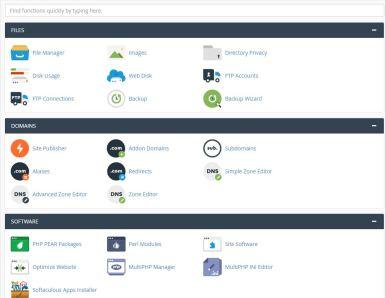 web hosting y cpanel
