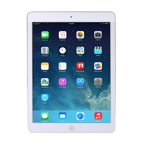 Apple iPad Air Wi-Fi Cellular 16GB – White & Silver ME999LL/A Refurbished