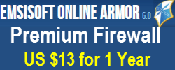 Emsisoft Online Armour Premium Firewall - $13 For 1 Year1