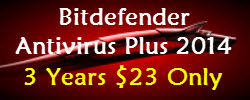 New Bitdefender Antivirus 2014 - $23 For 3 Years