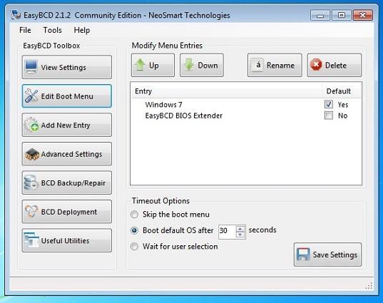 расширение BIOS от EasyBCD
