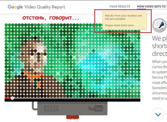 Video Quality Report не работает